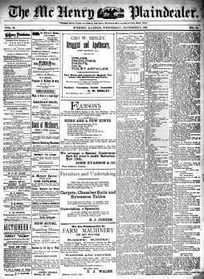 McHenry Plaindealer (McHenry, IL), 9 Nov 1898