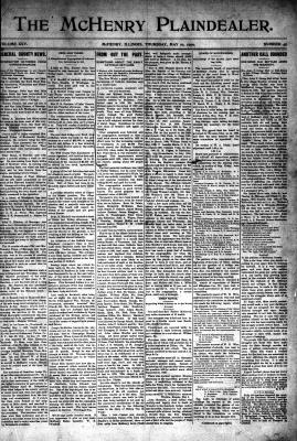 McHenry Plaindealer (McHenry, IL), 10 May 1900
