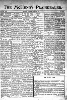 McHenry Plaindealer (McHenry, IL), 12 Jul 1900