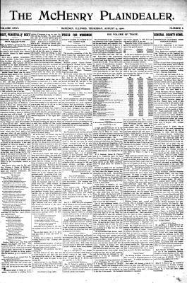 McHenry Plaindealer (McHenry, IL), 9 Aug 1900