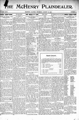 McHenry Plaindealer (McHenry, IL), 16 Aug 1900