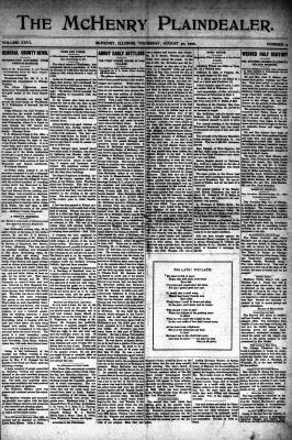 McHenry Plaindealer (McHenry, IL), 30 Aug 1900