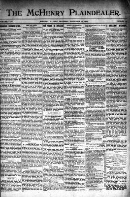 McHenry Plaindealer (McHenry, IL), 27 Sep 1900