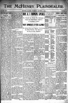 McHenry Plaindealer (McHenry, IL), 4 Oct 1900