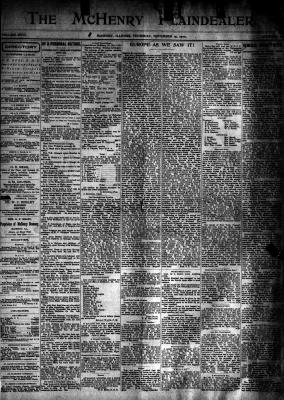 McHenry Plaindealer (McHenry, IL), 15 Nov 1900