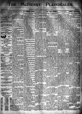 McHenry Plaindealer (McHenry, IL), 29 Aug 1901