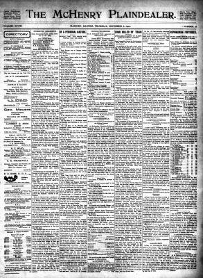McHenry Plaindealer (McHenry, IL), 6 Nov 1902