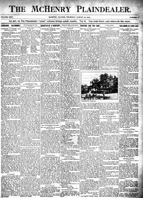 McHenry Plaindealer (McHenry, IL), 20 Aug 1903