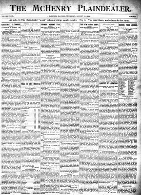 McHenry Plaindealer (McHenry, IL), 27 Aug 1903