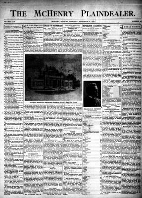 McHenry Plaindealer (McHenry, IL), 10 Nov 1904