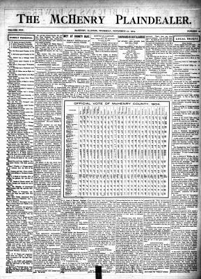 McHenry Plaindealer (McHenry, IL), 17 Nov 1904
