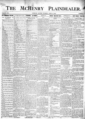 McHenry Plaindealer (McHenry, IL), 27 Apr 1905
