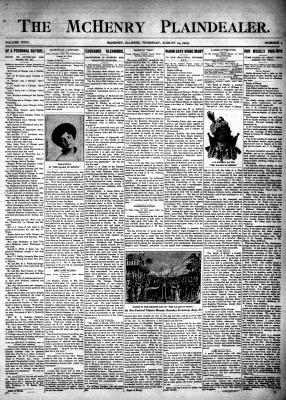 McHenry Plaindealer (McHenry, IL), 24 Aug 1905