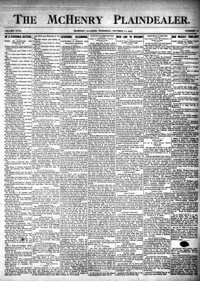 McHenry Plaindealer (McHenry, IL), 12 Oct 1905
