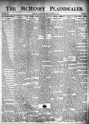 McHenry Plaindealer (McHenry, IL), 9 Nov 1905