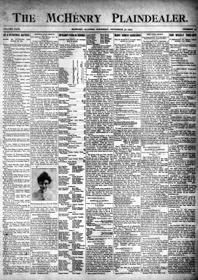 McHenry Plaindealer (McHenry, IL), 30 Nov 1905
