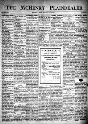 McHenry Plaindealer (McHenry, IL), 7 Dec 1905