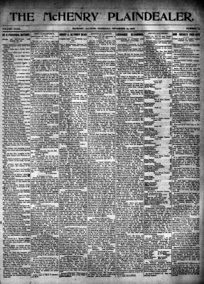 McHenry Plaindealer (McHenry, IL), 29 Nov 1906