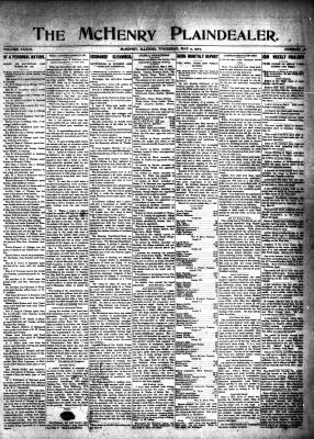 McHenry Plaindealer (McHenry, IL), 9 May 1907