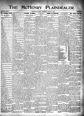 McHenry Plaindealer (McHenry, IL), 8 Aug 1907