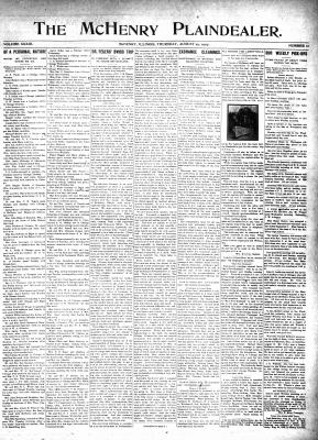 McHenry Plaindealer (McHenry, IL), 29 Aug 1907
