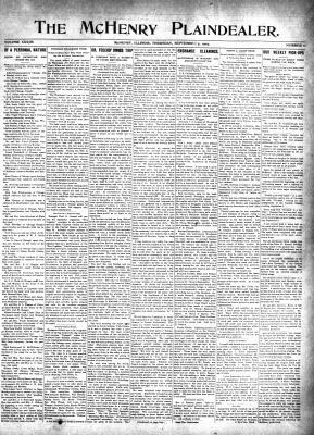McHenry Plaindealer (McHenry, IL), 5 Sep 1907