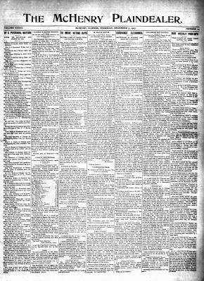 McHenry Plaindealer (McHenry, IL), 5 Dec 1907