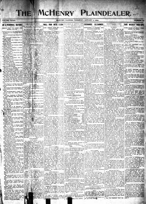 McHenry Plaindealer (McHenry, IL), 7 Jan 1909