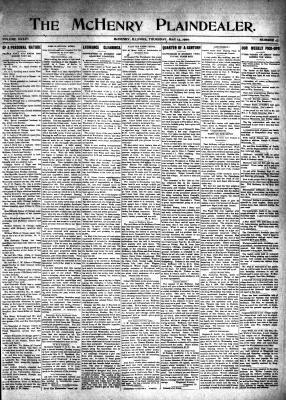 McHenry Plaindealer (McHenry, IL), 13 May 1909