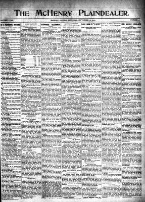 McHenry Plaindealer (McHenry, IL), 16 Sep 1909