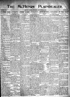 McHenry Plaindealer (McHenry, IL), 23 Sep 1909