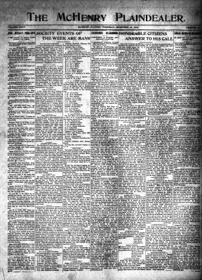 McHenry Plaindealer (McHenry, IL), 16 Dec 1909