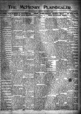 McHenry Plaindealer (McHenry, IL), 30 Dec 1909