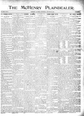 McHenry Plaindealer (McHenry, IL), 18 Aug 1910