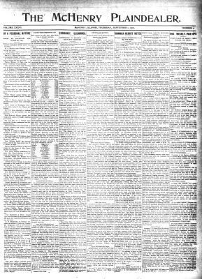 McHenry Plaindealer (McHenry, IL), 1 Sep 1910