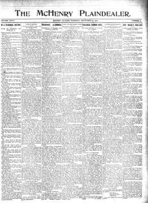 McHenry Plaindealer (McHenry, IL), 29 Sep 1910