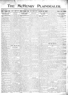 McHenry Plaindealer (McHenry, IL), 23 Mar 1911