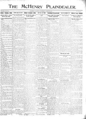 McHenry Plaindealer (McHenry, IL), 27 Jul 1911