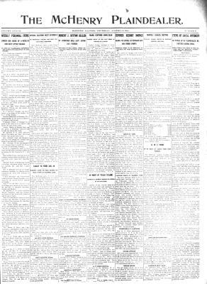 McHenry Plaindealer (McHenry, IL), 10 Aug 1911