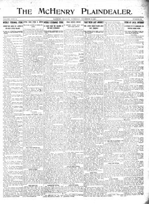 McHenry Plaindealer (McHenry, IL), 16 Nov 1911