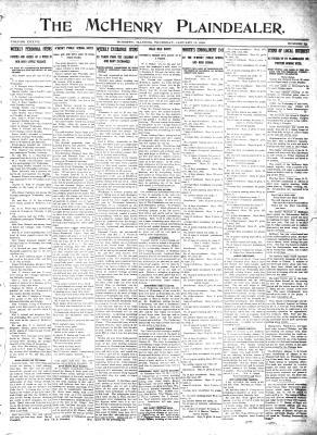 McHenry Plaindealer (McHenry, IL), 11 Jan 1912
