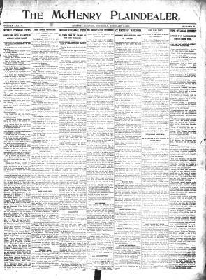 McHenry Plaindealer (McHenry, IL), 1 Feb 1912