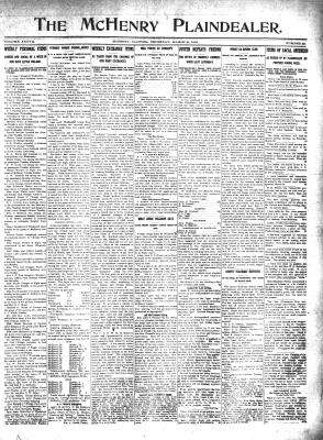 McHenry Plaindealer (McHenry, IL), 21 Mar 1912