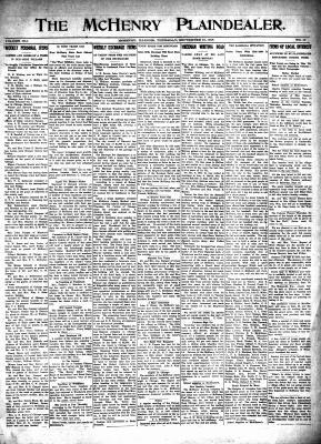 McHenry Plaindealer (McHenry, IL), 16 Sep 1915
