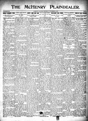 McHenry Plaindealer (McHenry, IL), 8 Nov 1917