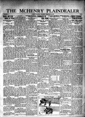 McHenry Plaindealer (McHenry, IL), 20 Feb 1930