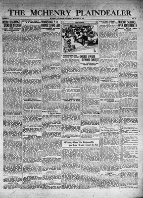 McHenry Plaindealer (McHenry, IL), 27 Aug 1931