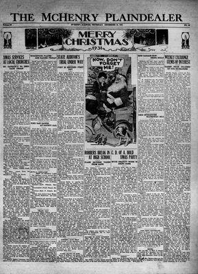 McHenry Plaindealer (McHenry, IL), 24 Dec 1931