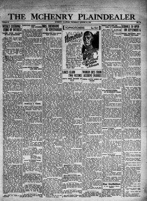 McHenry Plaindealer (McHenry, IL), 18 Aug 1932