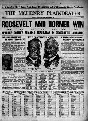 McHenry Plaindealer (McHenry, IL), 10 Nov 1932